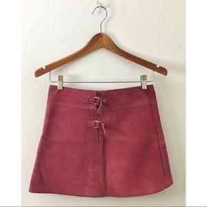 Vintage 70s Suede Skater Skirt